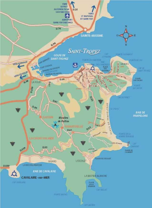 Saint-Tropez Map